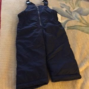 New Carters Blue Ski Bibs  2T Snow Overall Toddler